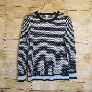Nordstrom Halogen Knit Sweater Crewneck Black